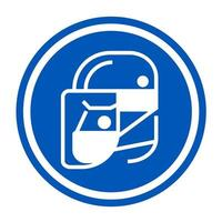 icônes de masque facial de protection simple pour votre conception vecteur