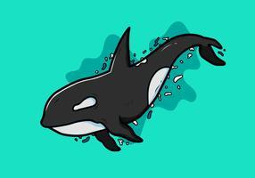 Vecteur de tueur de baleines