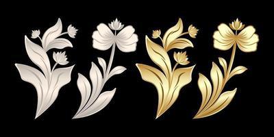 produits de gypse floral tissage de stuc vecteur