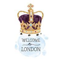 Couronne de monarchie mignonne de Londres vecteur