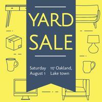 Affiche de signe de vente de Yard Vector Design