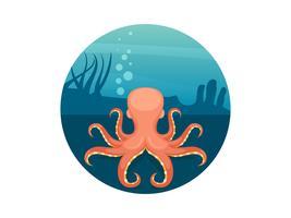 Vecteurs de nourriture Octopus unique vecteur