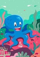 Illustration de poulpe vecteur