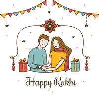 Vecteur de Rakhi heureux
