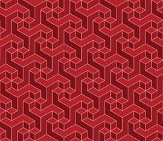 motif géométrique avec forme tridimensionnelle vecteur