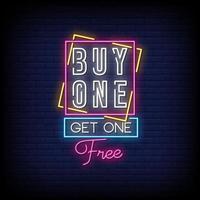 acheter un, obtenir un vecteur de texte de style enseignes au néon gratuit