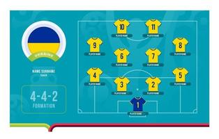 ukraine line-up football tournoi stade final illustration vectorielle vecteur