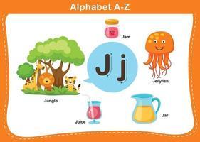 illustration vectorielle alphabet lettre j vecteur