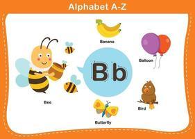 illustration vectorielle alphabet lettre b vecteur