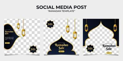 modèle de publication sur les médias sociaux de vente ramadan vecteur
