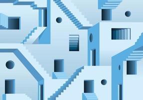 concept du labyrinthe et sortie impossible à trouver vecteur