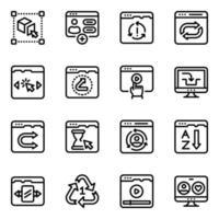 outils d'édition Web vecteur
