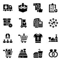 shopping et logistique vecteur