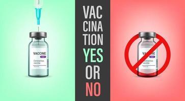 vaccination oui ou non concept vecteur