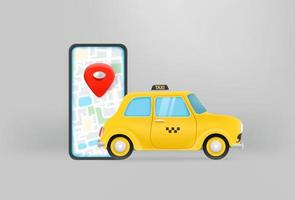 réservation de taxi concept. application mobile pour prendre un taxi vecteur