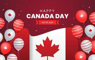 joyeux anniversaire de la fête du canada vecteur