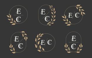 collection de modèles de logo monogramme de mariage vecteur