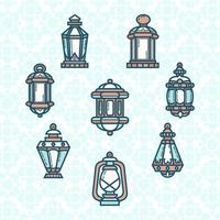 icône de lanterne mignonne de ramadan vecteur