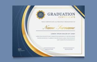 modèle de diplôme de certificat de fin d'études vecteur