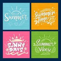 cartes de saison estivale vecteur