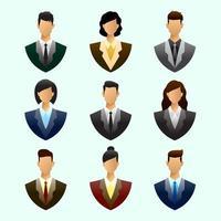 ensemble d & # 39; icônes de gens d & # 39; affaires vecteur