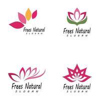 icône de modèle de logo de beauté vecteur fleurs de lotus design