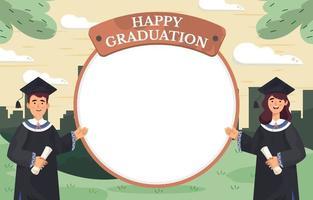 bonne remise des diplômes dans le concept de modèle de parc vecteur