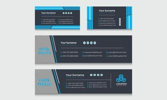 dernière conception de mise en page de modèle de signature de courrier électronique d'entreprise et d'entreprise. vecteur