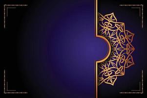 design de fond ornemental mandala de luxe avec style de motif arabesque doré. ornement décoratif de mandala pour impression, brochure, bannière, couverture, affiche, carte d'invitation. vecteur