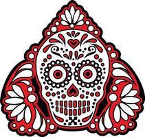 crâne de sucre mexicain, design vintage vecteur