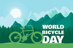 illustration de la journée mondiale du vélo vecteur