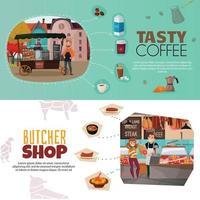 bannières de magasins mis en illustration vectorielle vecteur
