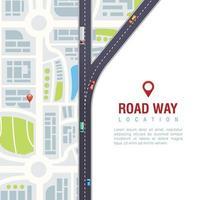 illustration vectorielle de route navigation affiche vecteur