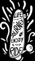 affiche voyage de la vie profiter de la citation conçue vecteur