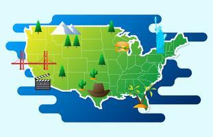Infographie touristique sur l'Amérique Illustration infographique vecteur
