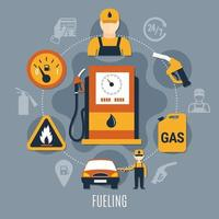 illustration vectorielle de pompe à carburant concept vecteur