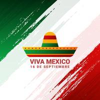 Affiche de vacances du jour de l'indépendance du Mexique vecteur