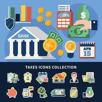 collection d & # 39; icônes de taxes vecteur
