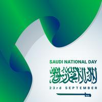 Jour de l'indépendance nationale de l'Arabie saoudite vecteur