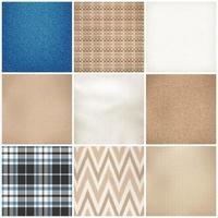 texture de motifs textiles réalistes mis illustration vectorielle vecteur