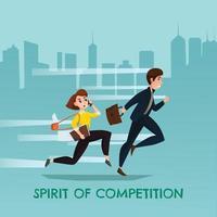 esprit de compétition illustration vectorielle affiche urbaine vecteur
