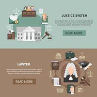 collection de bannières du système juridique vecteur