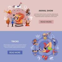 bannière colorée de dessin animé de cirque définie illustration vectorielle vecteur