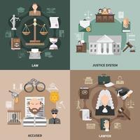 concept de conception de justice publique vecteur