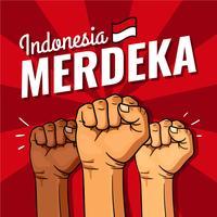 Indonésie Jour de l'indépendance de Merdeka vecteur