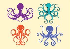 Octopus et tentacules symétriques vecteur
