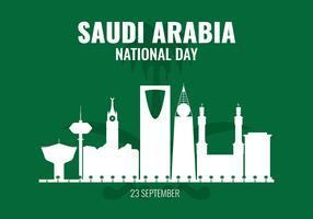 Journée nationale de l'Arabie saoudite vecteur
