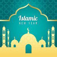 Vecteur du nouvel an islamique