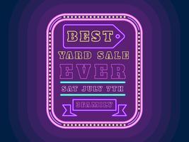 Vecteurs de signe Unique Yard Sale vecteur