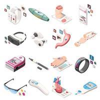 icônes isométriques électroniques portables vector illustration